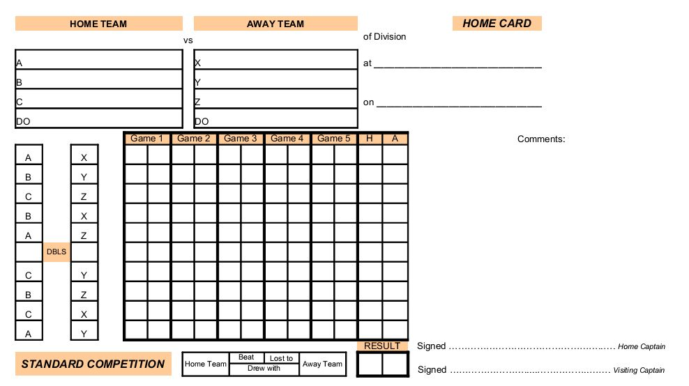 Winchester Table Tennis League HantsUk Scorecards